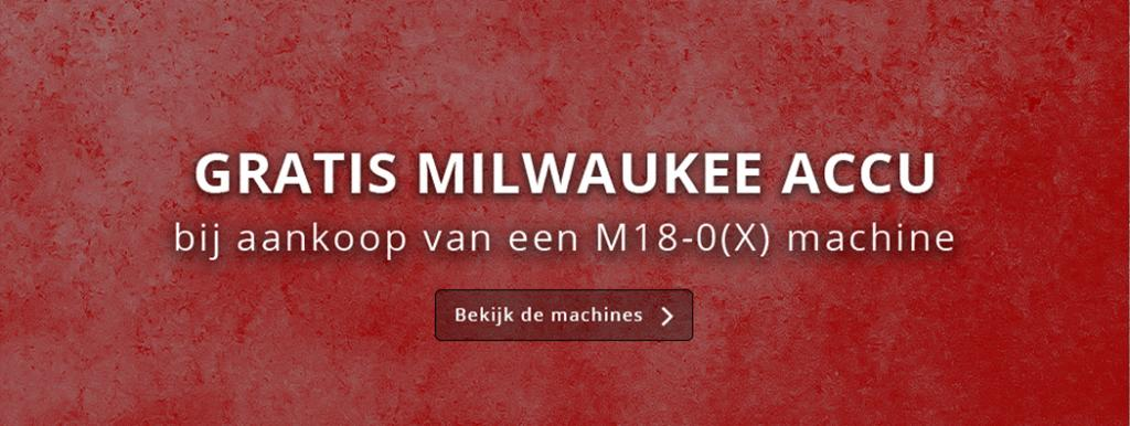 Milwaukee gratis M18 accu