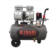 Kibani Stil en Olievrij compressor 24 liter dubbele cilinder, 1.5 pk / 1.1 kW