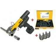 Rems Mini-Press ACC Basic Pack 14.4 Volt Accuradiaalpers  tot 40mm + 3 Bekken naar keuze