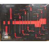 Diggers Gereedschap inlay met inbus & Torx sleutels